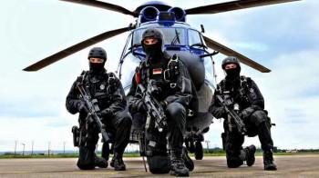 die GSG 9 Team 3 (Fallschirmspringer) Spezialeinheit der Bundespolizei