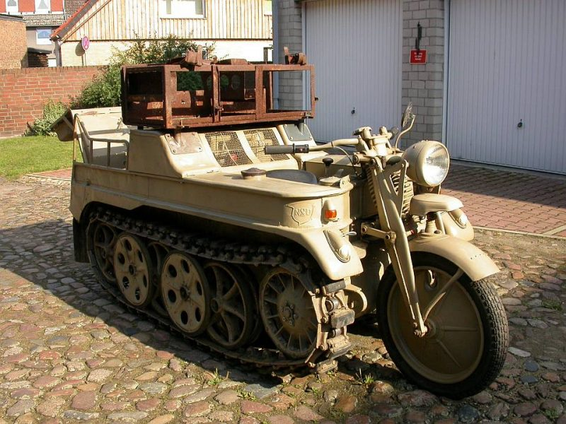 Полугусеничный мотоцикл NSU-Kettenkrad