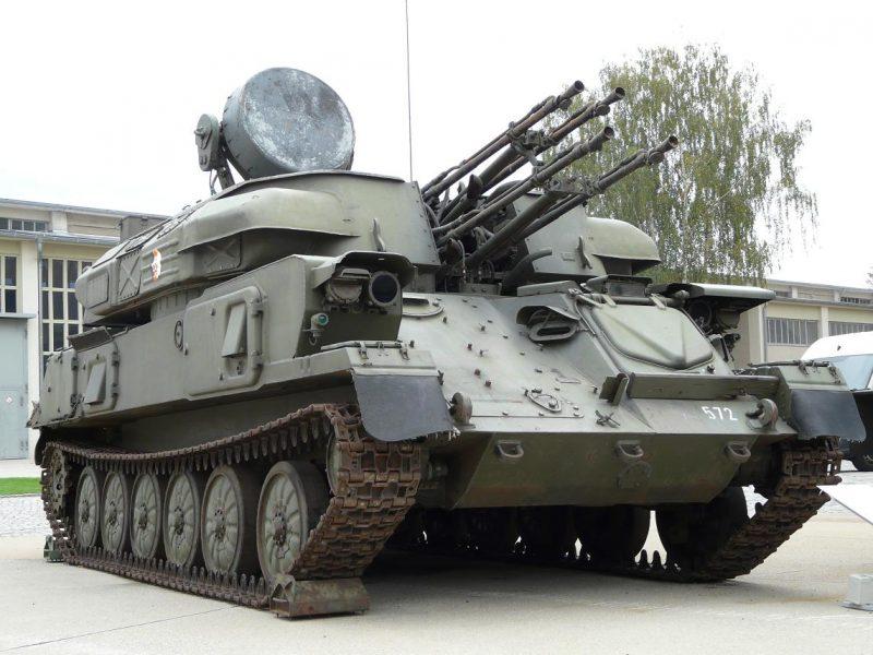 "23-мм зенитная самоходная артиллерийская установка ЗСУ-23-4 (2А6) ""Шилка"""