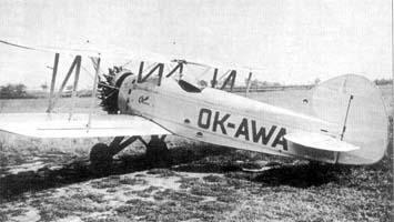 Спортивно-пилотажный самолет Авиа B-122