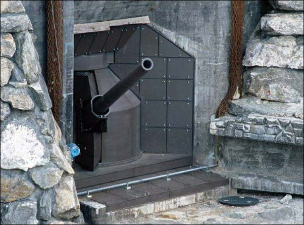 "155-мм крепостное орудие ""Бизон"""