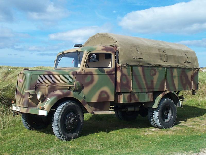 Опель «Блиц» - лучший грузовик вермахта