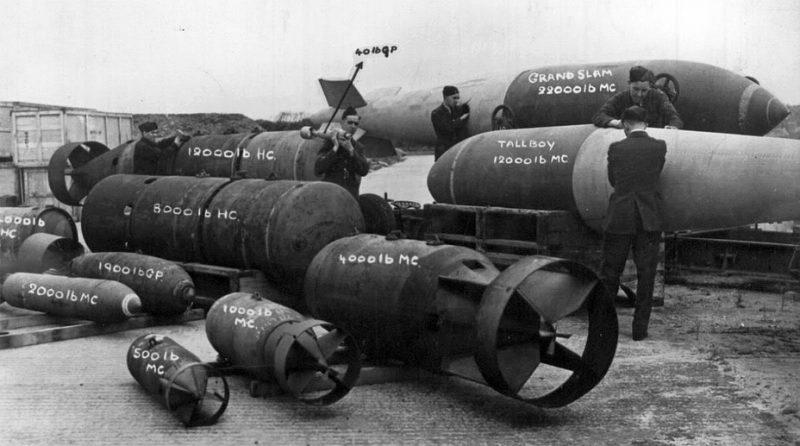 Авиабомбы ВВС Великобритании в годы Второй мировой войны