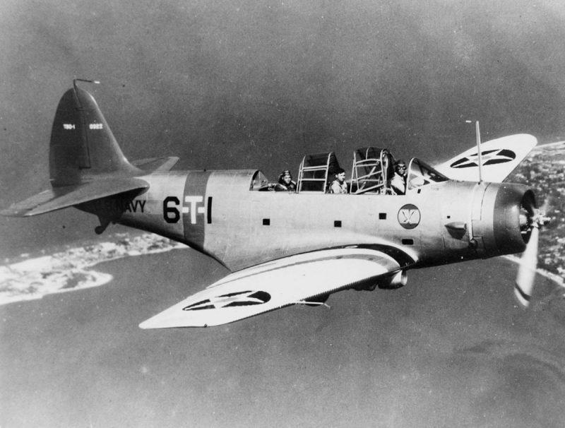 Палубный торпедоносец-бомбардировщик Дуглас TBD-1 «Девастейтор»