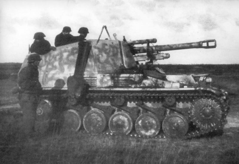 Самоходная артиллерийская установка Sd. Kfz. 124 «Веспе»