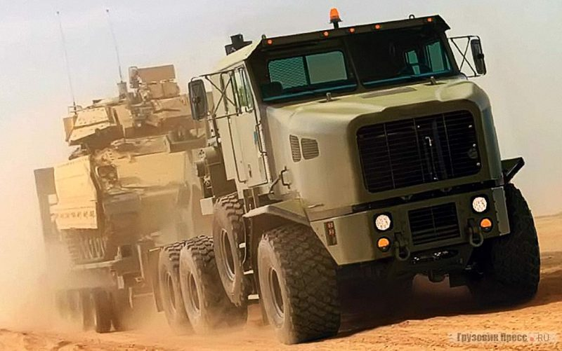 Тягач «Ошкош» М1070 - тяжелый танковый транспортер