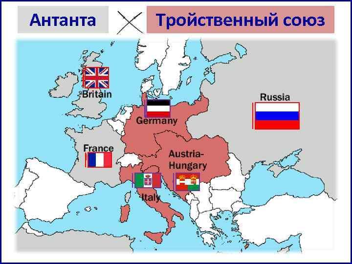 Антанта против тройственного союза - пролог к Первой мировой войне