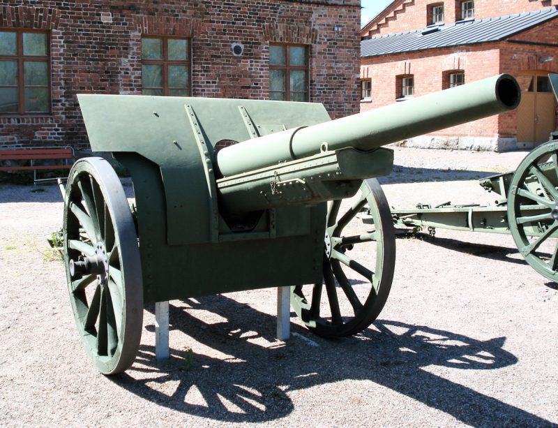 Пушка обр. 1910 г. - 42 линии мощности