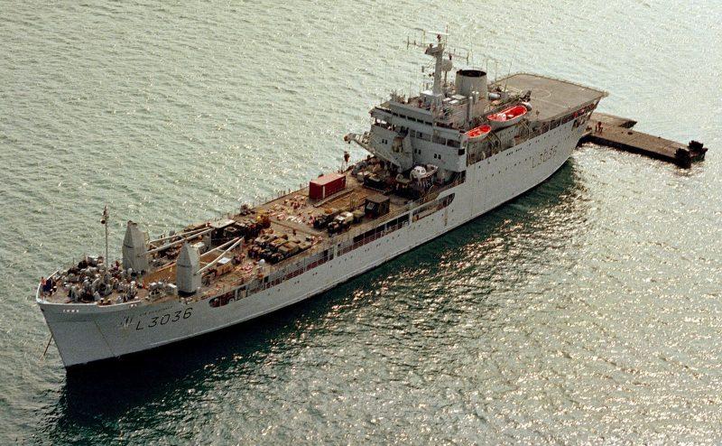 Танкодесантные корабли Великобритании - «рыцари Круглого стола»