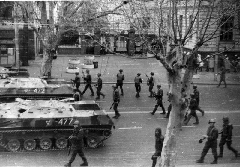 Гражданская война в Грузии - политическая борьба
