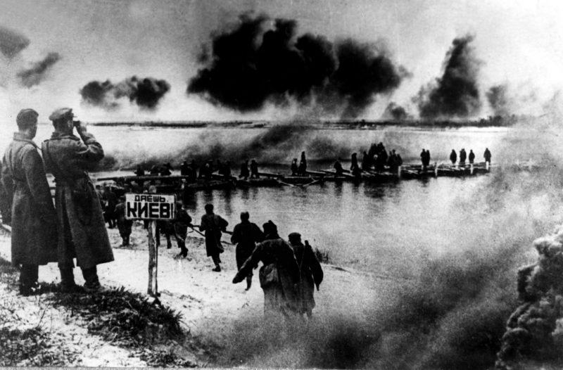 Советское наступление на левом берегу Днепра