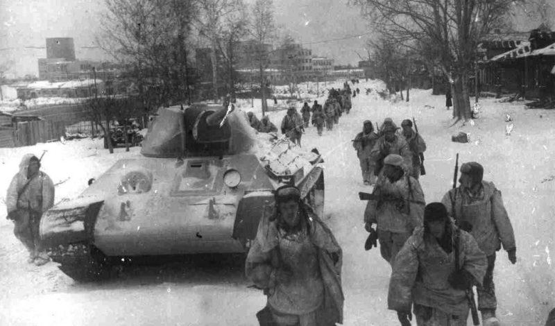 Наступление советских войск под Москвой