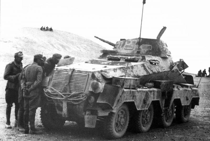 Четырехосная тяжелая бронемашина SdKfz 232 (8-rad)