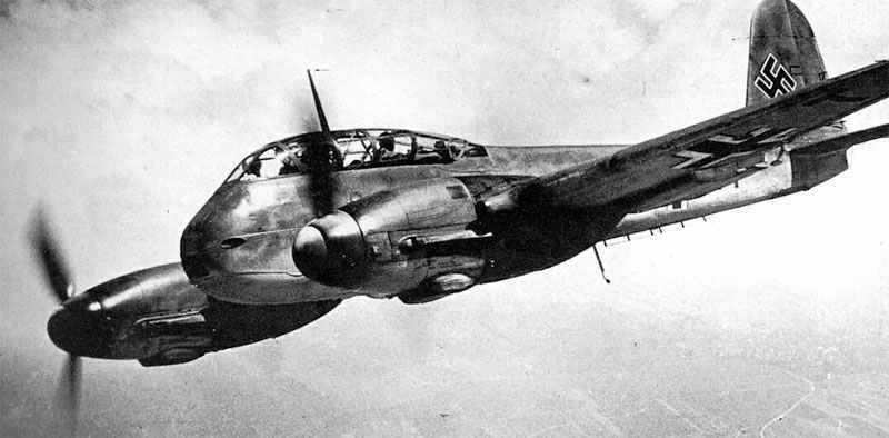 Немецкий истребитель Messerschmitt Me 210