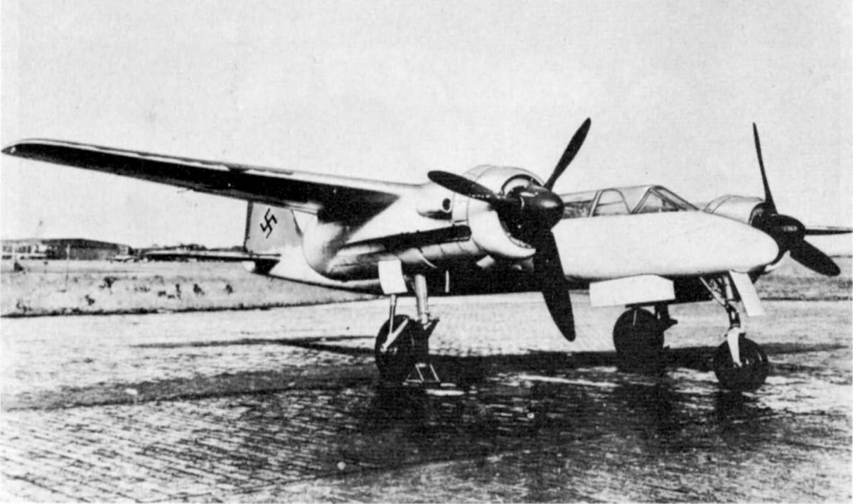 Немецкий истребитель Focke-Wulf Та 154