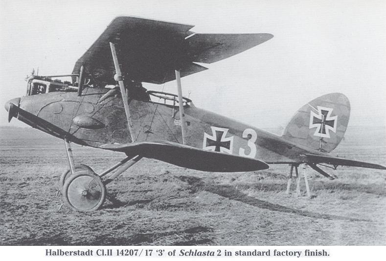 Германский истребитель Halberstadt CL.II