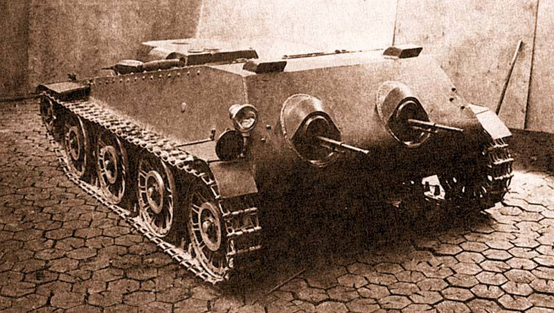 Советский танкетка ППГ