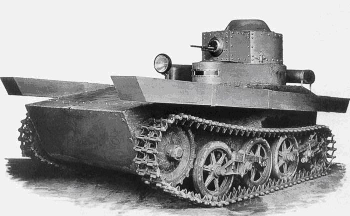 Малый плавающий танк Т-33