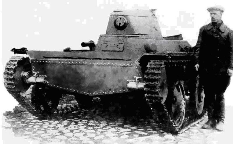Плавающий колёсно-гусеничный танк Т-43-1