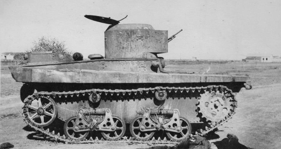 Советский плавающий танк Т-37