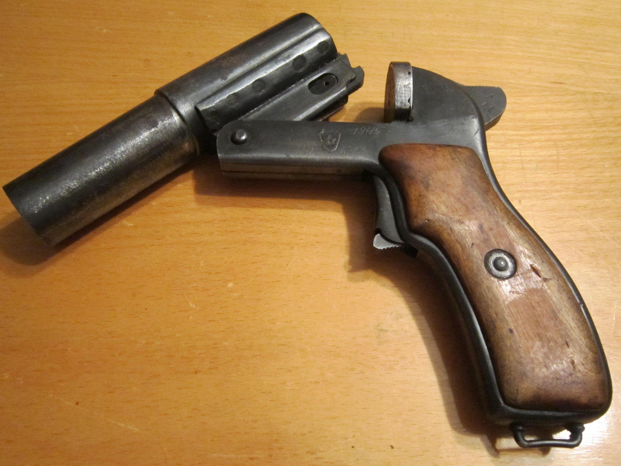 Сигнальный пистолет Шпагина СПШ-44 (СССР)