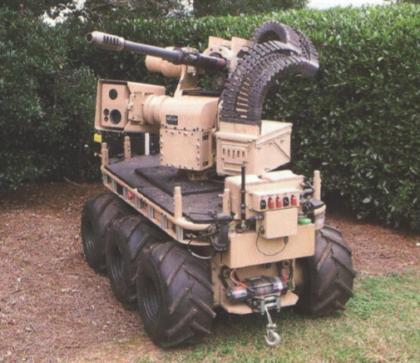 Робот CAMEL, вооружённый 30-мм автоматической пушкой ATK M230LF