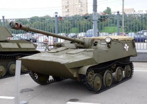Плавающая авиадесантируемая самоходная установка АСУ-57П («Объект 574»)