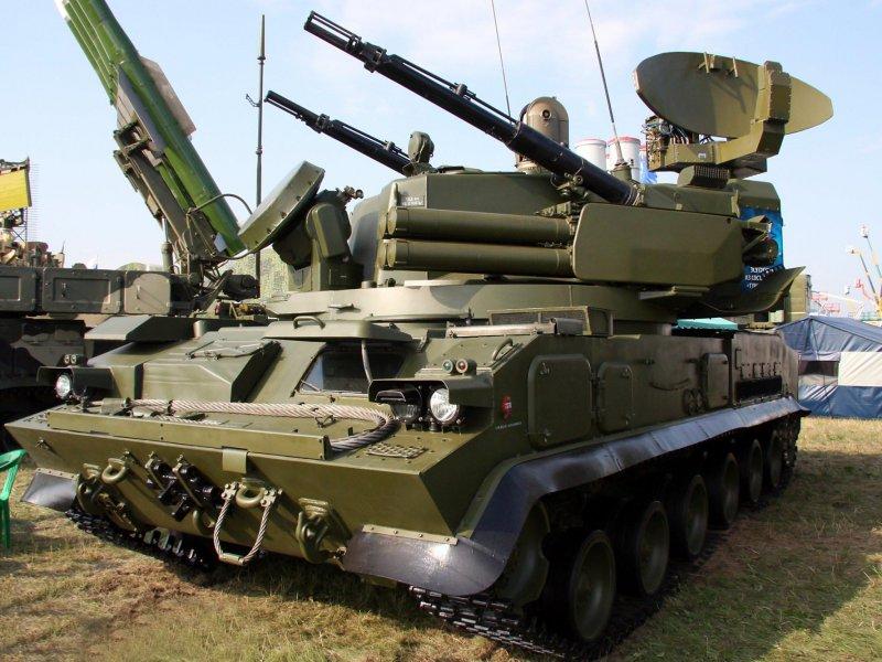 """Самоходный зенитный пушечно-ракетный комплекс 2К22 """"Тунгуска"""""""
