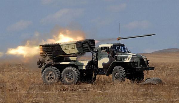 """122-мм реактивная система залпового огня БМ-21 (9К51) """"Град"""""""