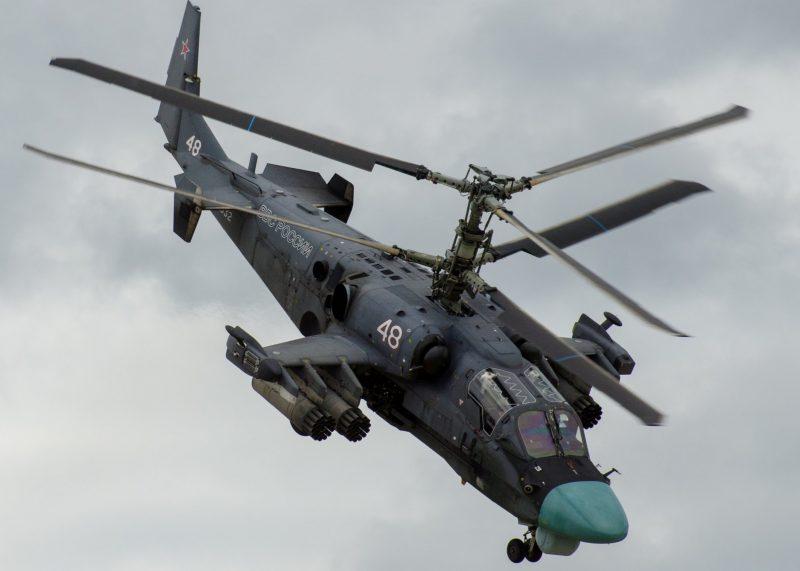 Российские ударные вертолеты Ка-50 и Ка-52