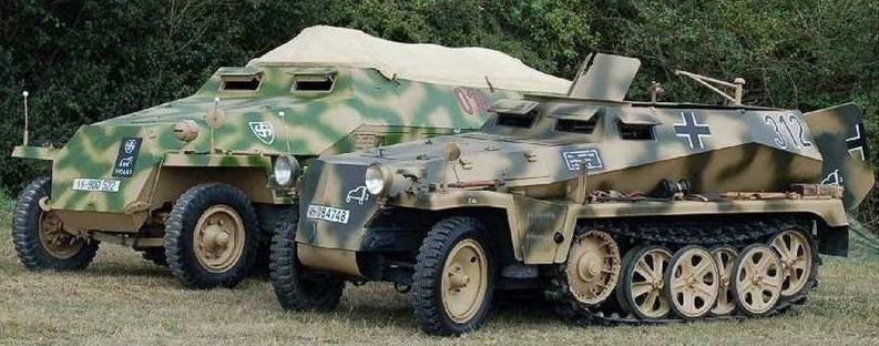 Бронетранспортеры и автомобили Второй мировой войны