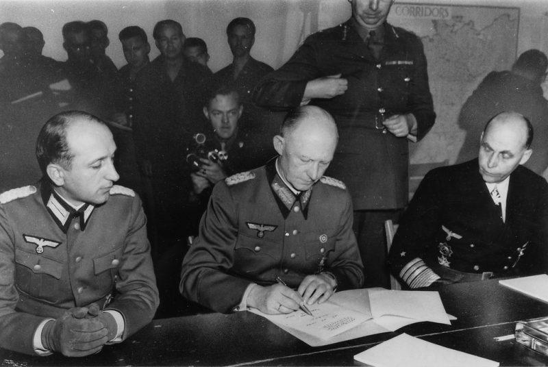 Как подписывался акт о капитуляции Германии