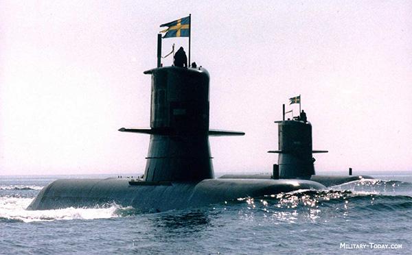 Шведские субмарины «Вестергетланд» и «Готланд»