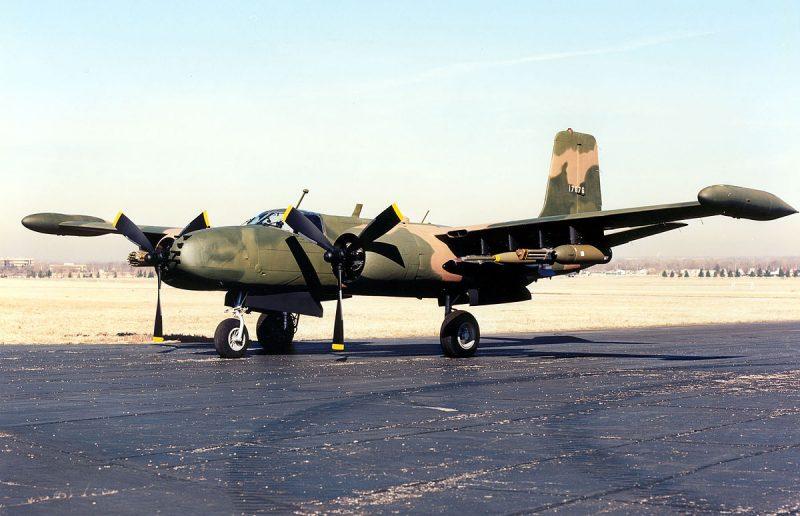 Двухмоторный бомбардировщик-штурмовик Дуглас А-26 «Инвэйдер»