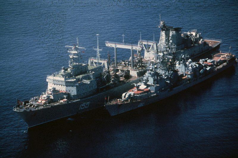 Корабль комплексного снабжения «Березина» - склад в океане