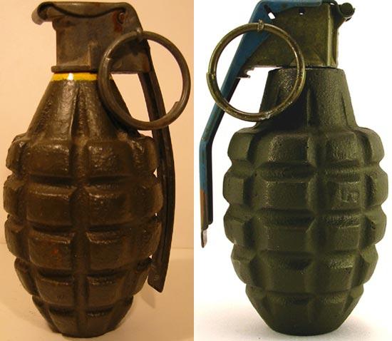 Ручные гранаты Mk 1 и Mk 2 - оборонительные «ананаски»