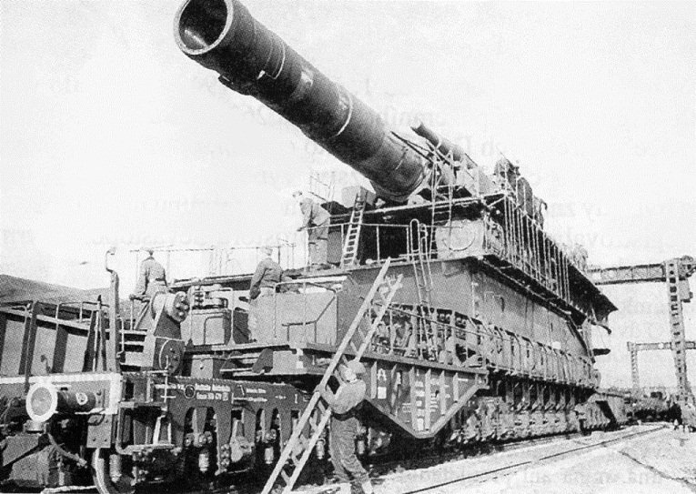 80-см железнодорожные артиллерийские установки - самые большие пушки