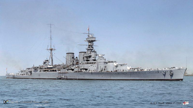 Линейный крейсер «Худ» - самый большой корабль ВМФ Великобритании