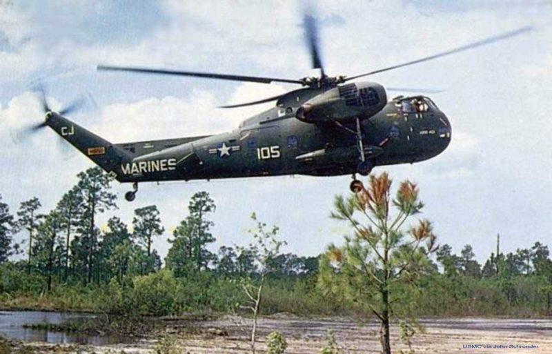 Транспортный вертолет S-56 - поршневой гигант Сикорского