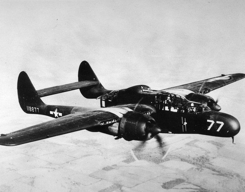 Истребитель «Нортроп» Р-61 «Блэк Уидоу» - «Черная вдова» атакует ночью