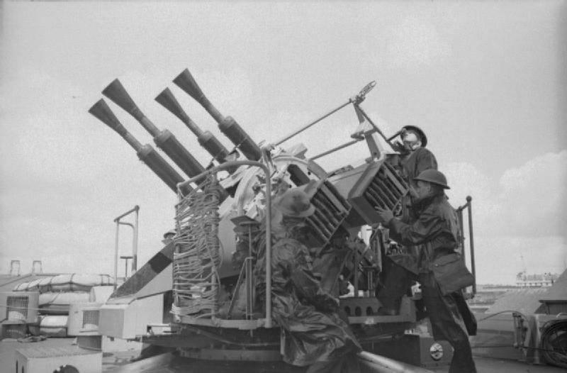 Скорострельные автоматические пушки британского флота