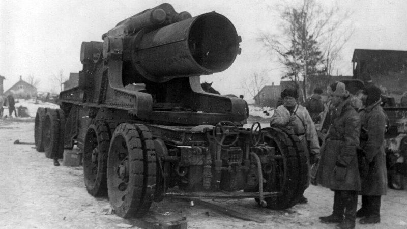 Осадная артиллерия Вермахта под Ленинградом в 1943 г.