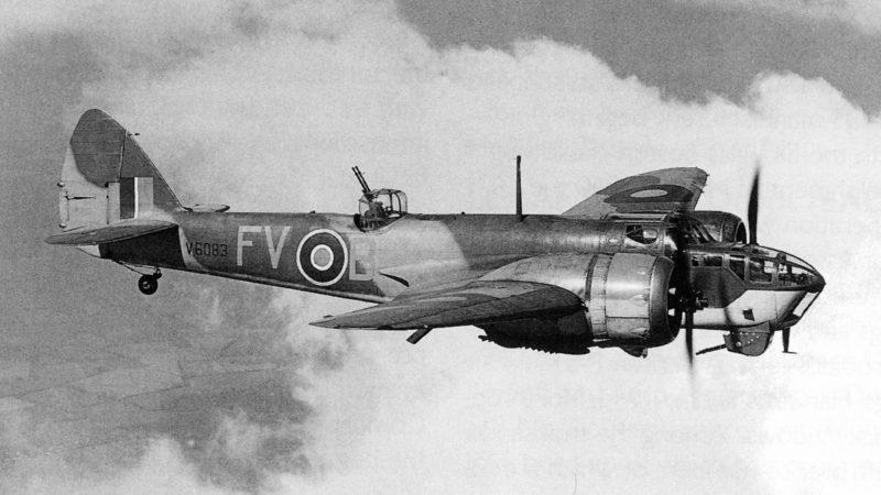 Бристоль «Бленхейм» - наиболее распространенный бомбардировщик