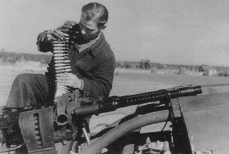 Германские пулеметы - с небес на землю