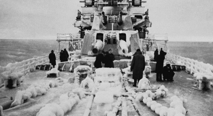 Тэйлор, Дауни и Хьюз - среди арктических конвоев