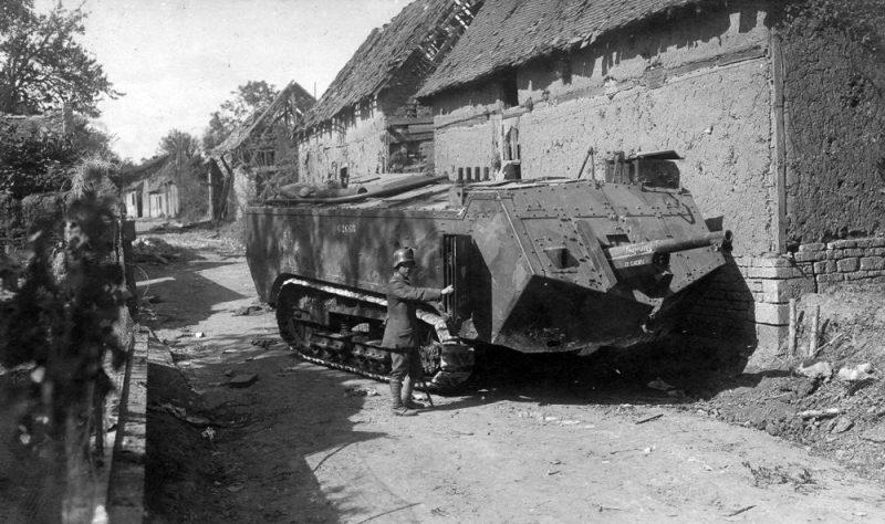 Первые французские танки - «артиллерийские тракторы»