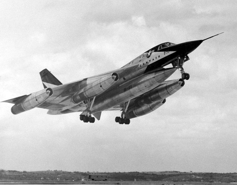 Стратегический бомбардировщик Конвэр В-58 «Хастлер» - первый сверхзвуковой