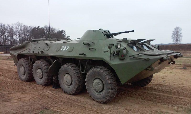 БТР-70 - транспортирование и огневая поддержка