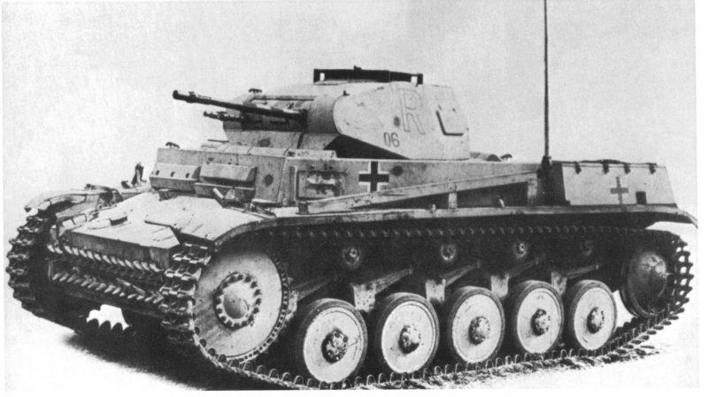 Легкий танк PzKpfw II Ausf F