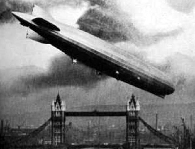 Рейды цеппелинов - налеты немецких дережаблей